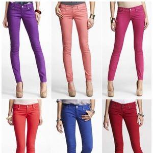 Express Hot Pink Jean Leggings